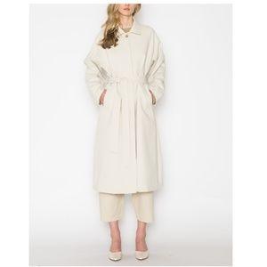 Oak + Fort beige trench coat